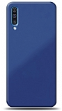 Eiroo Glass Samsung Galaxy A50s Silikon Kenarlı Cam Lacivert Kılıf