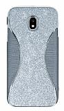 Eiroo Glint Samsung Galaxy J3 2017 Simli Silver Silikon Kılıf