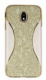 Eiroo Glint Samsung Galaxy J5 Pro 2017 Simli Gold Silikon Kılıf
