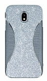 Eiroo Glint Samsung Galaxy J5 Pro 2017 Simli Silver Silikon Kılıf