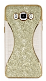 Eiroo Glint Samsung Galaxy J7 2016 Simli Gold Silikon Kılıf