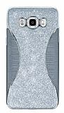 Eiroo Glint Samsung Galaxy J7 2016 Simli Silver Silikon Kılıf