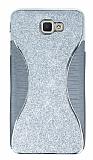 Eiroo Glint Samsung Galaxy J7 Prime Simli Silver Silikon Kılıf