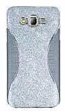 Eiroo Glint Samsung Galaxy J7 Simli Silver Silikon Kılıf