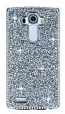 Eiroo Glows 2 LG G4 Taşlı Silver Rubber Kılıf