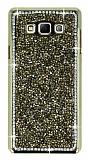Eiroo Glows 2 Samsung Galaxy A7 Taşlı Gold Rubber Kılıf