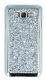 Eiroo Glows 2 Samsung Galaxy J7 Taşlı Silver Rubber Kılıf
