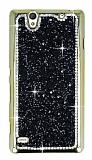 Eiroo Glows 2 Sony Xperia C4 Ta�l� Siyah Rubber K�l�f
