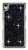 Eiroo Glows 2 Sony Xperia Z3 Taşlı Siyah Rubber Kılıf