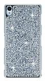 Eiroo Glows 2 Sony Xperia Z3 Ta�l� Silver Rubber K�l�f