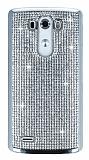 Eiroo Glows LG G3 Ta�l� Silver Rubber K�l�f