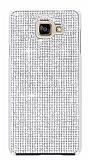 Eiroo Glows Samsung Galaxy A7 2016 Taşlı Silver Rubber Kılıf