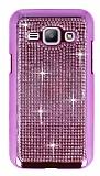 Eiroo Glows Samsung Galaxy J1 Ta�l� Pembe Rubber K�l�f