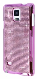 Eiroo Glows Samsung N9100 Galaxy Note 4 Ta�l� Pembe Rubber K�l�f