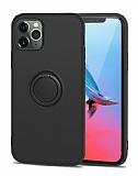 Eiroo Grade iPhone 11 Pro Standlı Siyah Silikon Kılıf