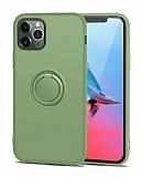 Eiroo Grade iPhone 11 Pro Standlı Yeşil Silikon Kılıf
