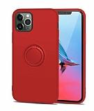 Eiroo Grade iPhone 11 Pro Standlı Kırmızı Silikon Kılıf