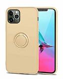 Eiroo Grade iPhone 11 Pro Standlı Sarı Silikon Kılıf