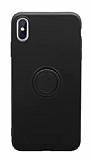Eiroo Grade iPhone X / XS Standlı Siyah Silikon Kılıf