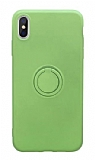 Eiroo Grade iPhone X / XS Standlı Yeşil Silikon Kılıf