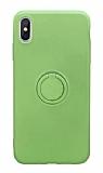 Eiroo Grade iPhone XS Max Standlı Yeşil Silikon Kılıf