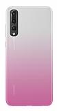 Eiroo Gradient Huawei P20 Geçişli Pembe Silikon Kılıf