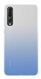 Eiroo Gradient Huawei P20 Geçişli Mavi Silikon Kılıf