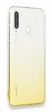 Eiroo Gradient Huawei P30 Lite Geçişli Sarı Silikon Kılıf