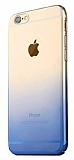 Eiroo Gradient iPhone 6 / 6S Geçişli Mavi Rubber Kılıf