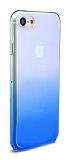 Eiroo Gradient iPhone 7 Geçişli Mavi Rubber Kılıf