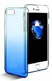Eiroo Gradient iPhone 7 Plus Geçişli Mavi Rubber Kılıf