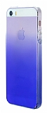 Eiroo Gradient iPhone SE / 5 / 5S Geçişli Mavi Rubber Kılıf