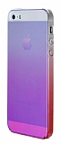 Eiroo Gradient iPhone SE / 5 / 5S Geçişli Pembe Rubber Kılıf