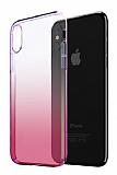 Eiroo Gradient iPhone XR Geçişli Pembe Rubber Kılıf
