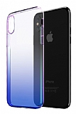 Eiroo Gradient iPhone XR Geçişli Mavi Rubber Kılıf