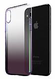 Eiroo Gradient iPhone XR Geçişli Mor Rubber Kılıf
