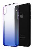Eiroo Gradient iPhone XS Max Geçişli Mavi Rubber Kılıf