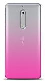 Eiroo Gradient Nokia 5 Geçişli Pembe Rubber Kılıf