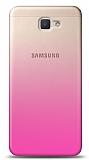 Eiroo Gradient Samsung Galaxy A3 2017 Geçişli Pembe Rubber Kılıf