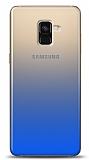Eiroo Gradient Samsung Galaxy A8 Plus 2018 Geçişli Mavi Rubber Kılıf