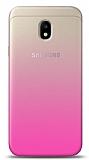 Eiroo Gradient Samsung Galaxy J3 Pro 2017 Geçişli Pembe Rubber Kılıf