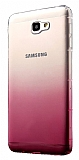 Eiroo Gradient Samsung Galaxy J7 Prime Geçişli Pembe Rubber Kılıf