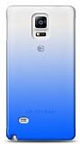 Eiroo Gradient Samsung Galaxy Note 4 Geçişli Mavi Rubber Kılıf