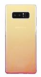 Eiroo Gradient Samsung Galaxy Note 8 Geçişli Pembe Silikon Kılıf