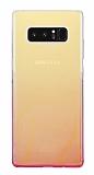 Eiroo Gradient Samsung Galaxy Note 8 Geçişli Pembe Rubber Kılıf