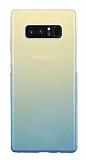 Eiroo Gradient Samsung Galaxy Note 8 Geçişli Mavi Rubber Kılıf