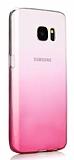Eiroo Gradient Samsung Galaxy S7 Edge Geçişli Pembe Rubber Kılıf