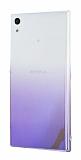 Eiroo Gradient Sony Xperia L1 Geçişli Mor Rubber Kılıf