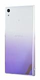 Eiroo Gradient Sony Xperia XA1 Ultra Geçişli Mor Rubber Kılıf