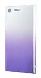 Eiroo Gradient Sony Xperia XZ Premium Geçişli Mor Rubber Kılıf